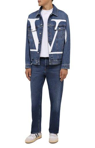 Мужская джинсовая куртка VALENTINO синего цвета, арт. WV3DC01J7L0 | Фото 1
