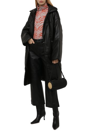 Женская хлопковая водолазка PROENZA SCHOULER WHITE LABEL оранжевого цвета, арт. WL2144218-JC150-ZBRA | Фото 1 (Рукава: Длинные; Длина (для топов): Стандартные; Материал внешний: Хлопок; Стили: Кэжуэл; Женское Кросс-КТ: Водолазка-одежда)