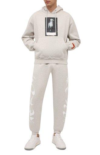 Мужской хлопковое худи HERON PRESTON серого цвета, арт. HMBB017F21JER0010805 | Фото 1