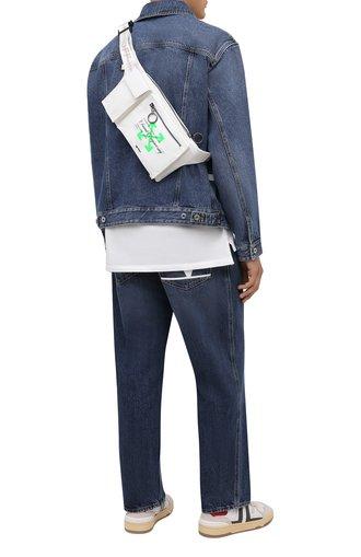 Мужская текстильная поясная сумка OFF-WHITE белого цвета, арт. 0MN0004G21FAB001 | Фото 1