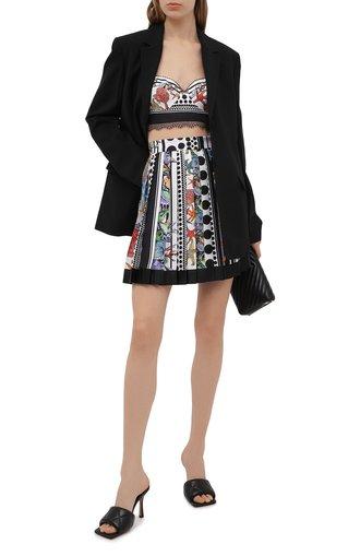 Женская шелковая юбка VERSACE разноцветного цвета, арт. A79448/1F00983 | Фото 1
