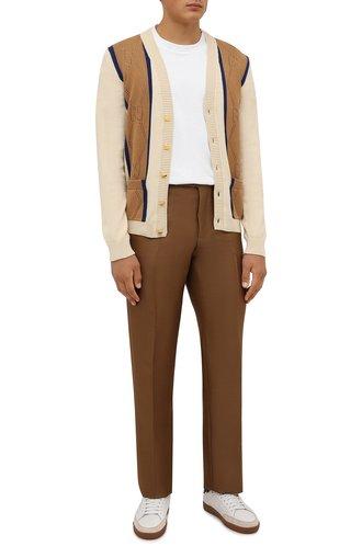 Мужские брюки из шерсти и вискозы TOM FORD коричневого цвета, арт. 244R24/610043 | Фото 1