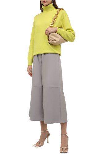 Женский кашемировый свитер TOM FORD желтого цвета, арт. MAK1080-YAX137   Фото 1 (Длина (для топов): Стандартные; Рукава: Длинные; Материал внешний: Кашемир, Шерсть; Стили: Кэжуэл; Женское Кросс-КТ: Свитер-одежда)