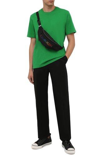 Мужская текстильная поясная сумка CALVIN KLEIN черного цвета, арт. K9KUSU0115 | Фото 1