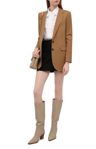 Женские кожаные сапоги matisse 70 AQUAZZURA бежевого цвета, арт. MSEMIDB0-SCA-SFB | Фото 1 (Материал внутренний: Натуральная кожа; Каблук высота: Средний; Подошва: Плоская; Высота голенища: Средние; Каблук тип: Устойчивый)
