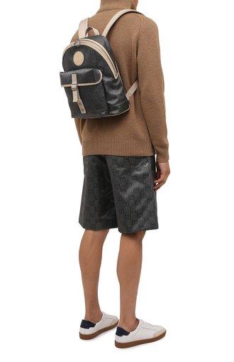 Мужской текстильный рюкзак off the grid GUCCI серого цвета, арт. 644992/H9H0N | Фото 1