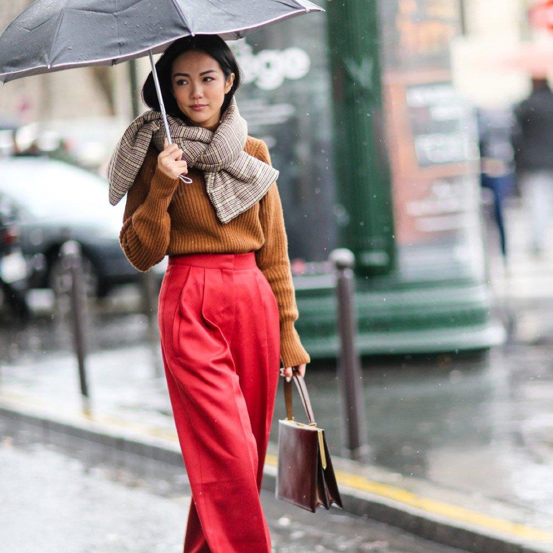 Модные образы для дождливой погоды